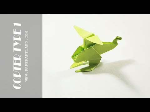 How To Make A Paper Helicopter Easy Origami Helicopter Type 1
