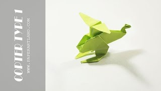 How to Make a Paper Helicopter - Easy Origami Helicopter  | Type 1