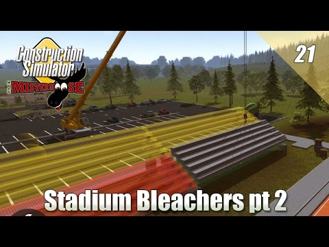 Construction Simulator 2015 - Installing Stadium Bleachers pt 2