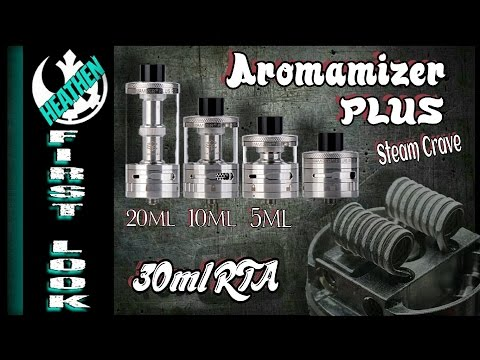 30mm Aromamizer PLUS RDA/5-10-20ml RDTA I Giveaway I Heathen