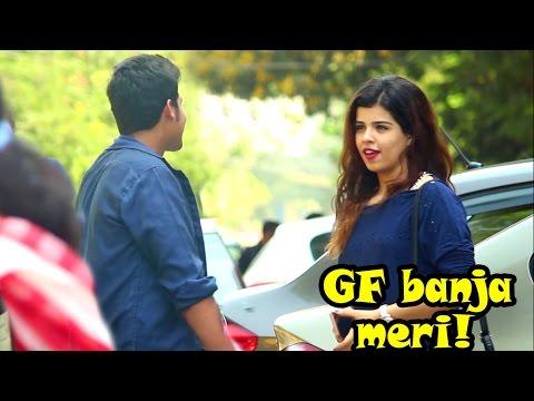 """Girlfriend Banja Meri!"" Prank On Cute Girl | Pranks In India"