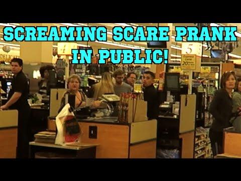 SCREAMING SCARE PRANK! - SCARE PRANK - PUBLIC PRANK