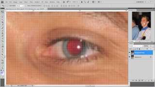 Removing red eye effect in Photoshop