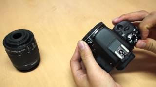 Canon 100D 2 조작 인터페이스