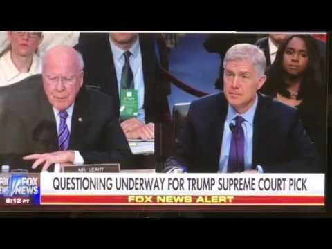 Is Patrick Leahy Drunk (Again)?, Calls Judge Gorsuch