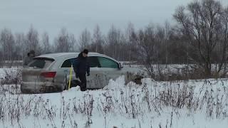 Застрять в снегу: Audi Q7, VW Tuareg, Subaru Forester, Range Rover, Ford Ranger