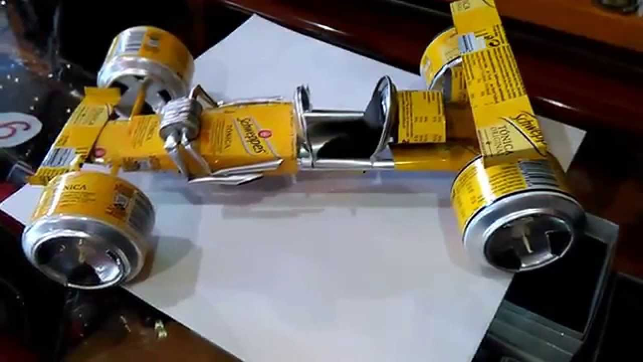 Coche formula 1 con latas de tonica youtube for Coches con silla para carro