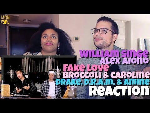 William Singe & Alex Aiono - Fake Love, Broccoli & Caroline (Drake, D.R.A.M. & Aminé) Reaction