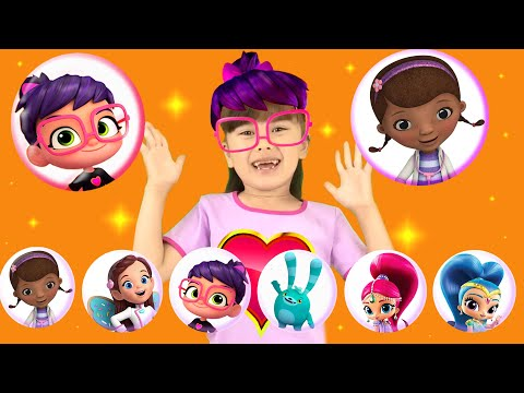 Dress Up Party With Abby Hatcher Shimmer And Shine And Doc Mcstuffins Jr Dress Up Ep 2 Nick Jr Youtube