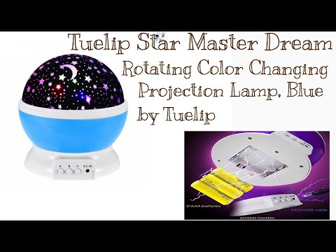 Tuelip Star Master Dream Rotating Color Changing Projection Lamp, Blue