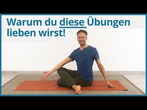 Yoga gegen Rückenschmerzen (Teil 3) ✅ Yoga Übungen Hüfte - unteren ...