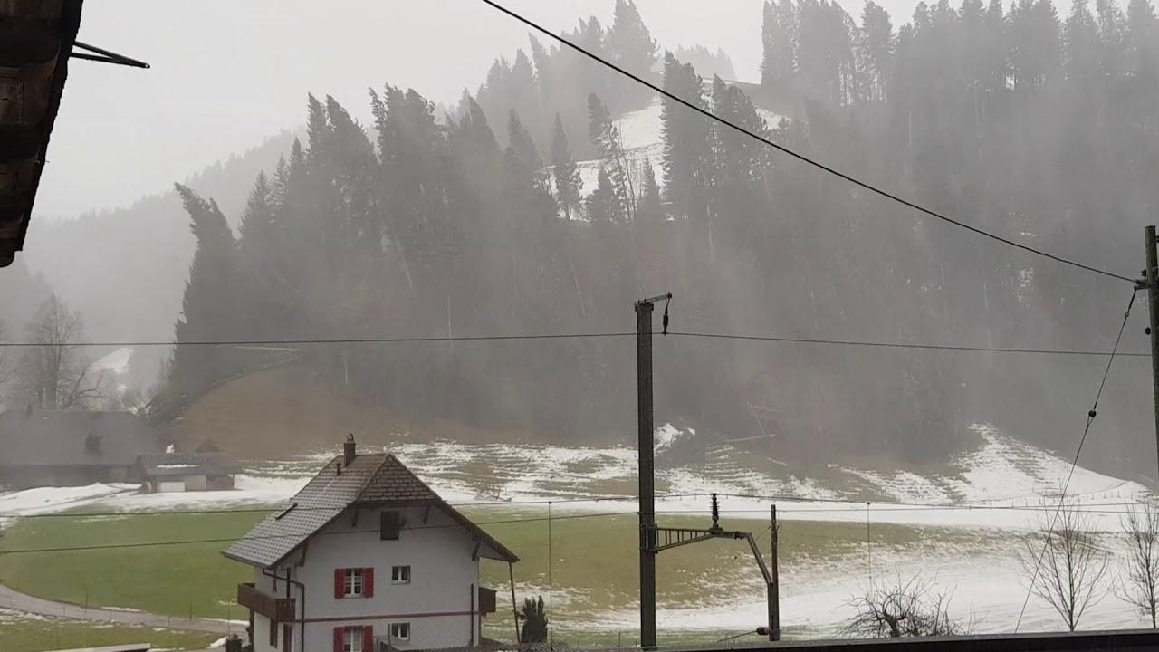 Sturm Burglind Schweiz Emmental Youtube