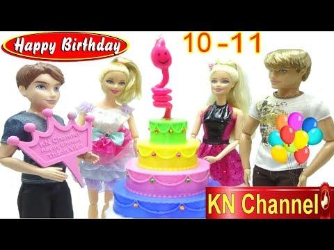 KN Channel tổ chức tiệc sinh nhật tháng 10 và 11 BÉ NA LÀM CHIẾC BÁNH KEM SIÊU LẠ BIRTHDAY TOYS