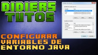 CONFIGURAR VARIABLES DE ENTORNO JAVA Windows 7 8 8.1 10