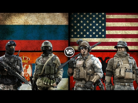 RUSSIA & SERBIA VS USA & ALBANIA - Military Power Comparison 2017