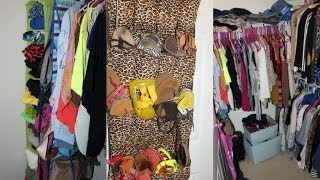 How I Organize My Small Apartment Closet W/hanging Bag,shoe,accesory  Organizer