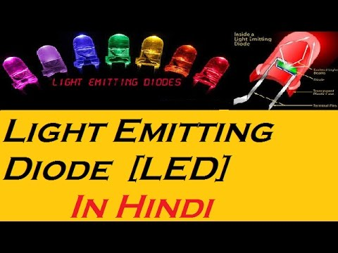 What is   Light Emitting Diode   LED   Working of led   definition   light  bulb   tutorial In Hindi