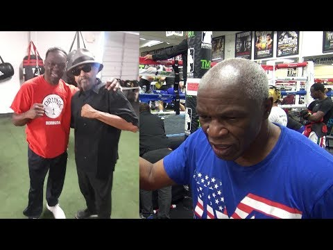 Floyd Mayweather Sr. reacts to Jeff Mayweather and Ruben Guerrero taking a photo together