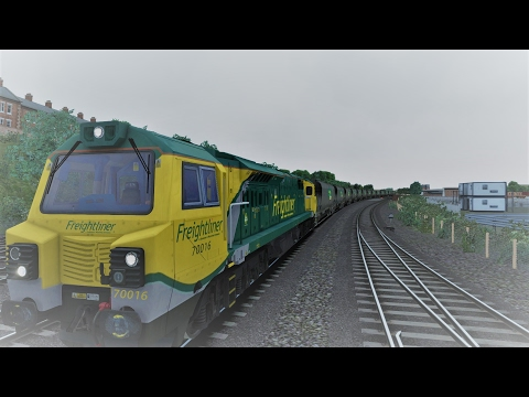 Empty Coal Consist In bad Weather - Train Simulator 2017