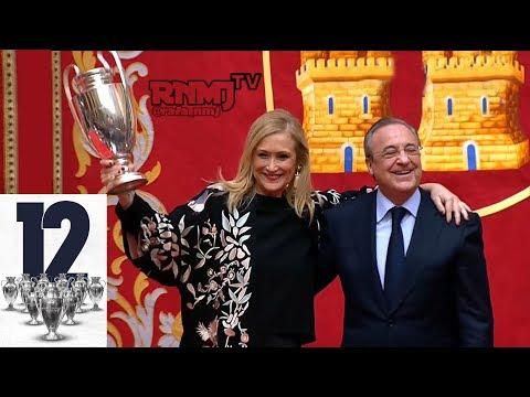Llegada de Real Madrid a la Comunidad y recibimiento | La Duodécima