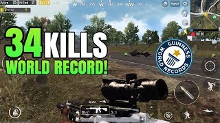34 Kills WORLD RECORD  FPP Solo VS Squad  PUBG Mobile