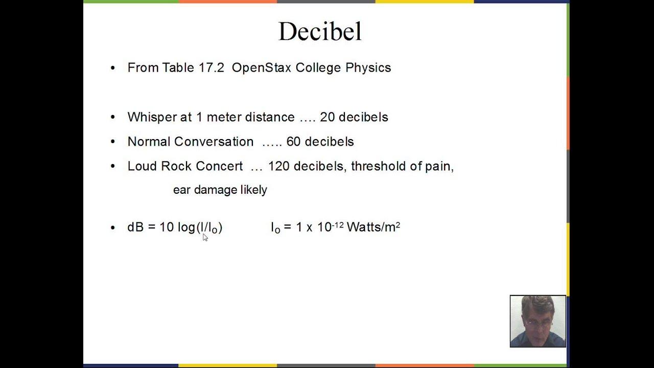 relationship between decibel and frequency