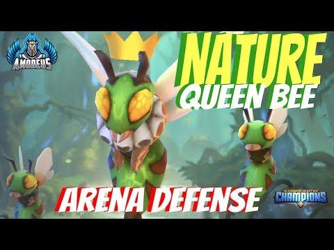 Dungeon Hunter Champions:  Beeatrice The Nature Queen Bee | Arena Defense Build