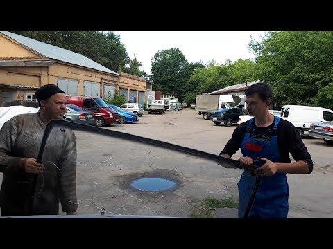 Замена лобового стекла на газели своими руками видео