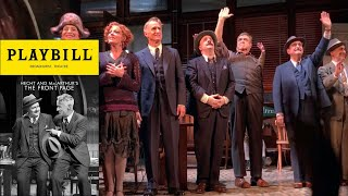 Nathan Lane / Slattery / Goodman The Front Page Broadway Curtain Call 09/28/2016