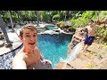 THIS IS SOMEONE'S BACKYARD!! (INSANE CLIFF JUMPING)