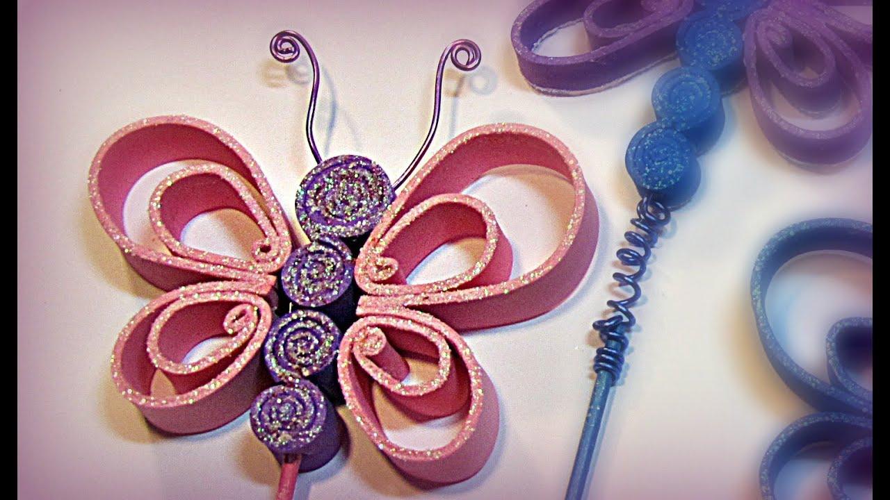 a7a19ec5a13 Cómo hacer mariposas de goma eva (foami