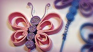 Repeat youtube video Cómo hacer mariposas de goma eva (foami, fomi).