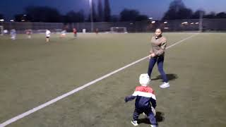 Kid playing football | This young lad have got football skills | Lad playing football with mum
