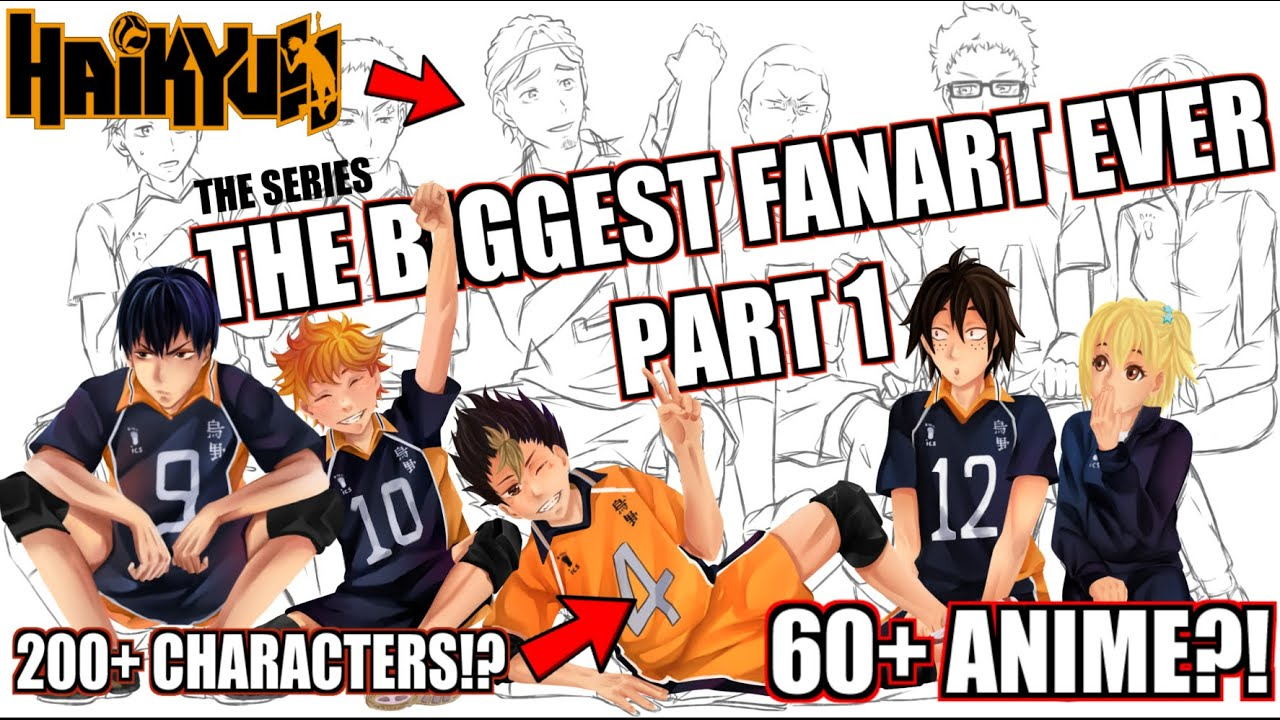 New Youtube Series: Biggest Anime Fanart Ever!!! 60 + Anime, 200+ Characters