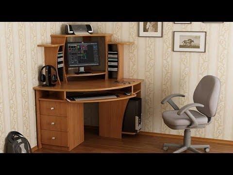 Современные угловые компьютерные столы для домашнего интерьера 2019