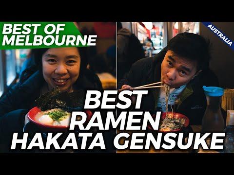 BEST RAMEN IN MELBOURNE - HAKATA GENSUKE | Melbourne Food Guide | Australia