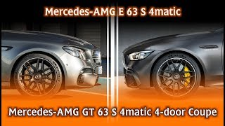 vuclip Mercedes-AMG E 63 vs GT 63 4-door Coupe - different twins