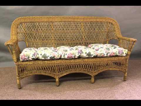 Indoor Wicker Sofa | Collection Of Wicker Living Room Furniture Sets