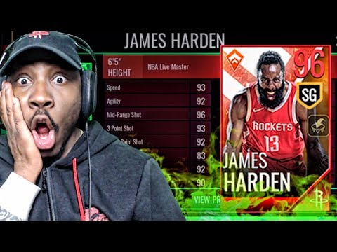 96 OVR LIVE MASTER JAMES HARDEN REVEALED! NBA Live Mobile 18 Pack Opening Ep. 28