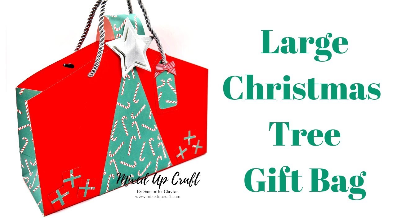 Christmas Tree Gift Bag | Fold Flat Gift Bags | Christmas ...