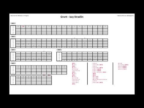 Grunt – Izzy Stradlin (Guitar Tab)