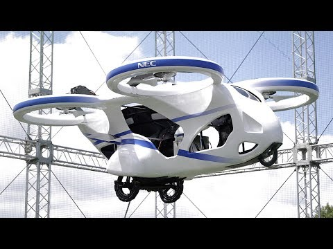 Japanese flying car successfully hovers during test flight