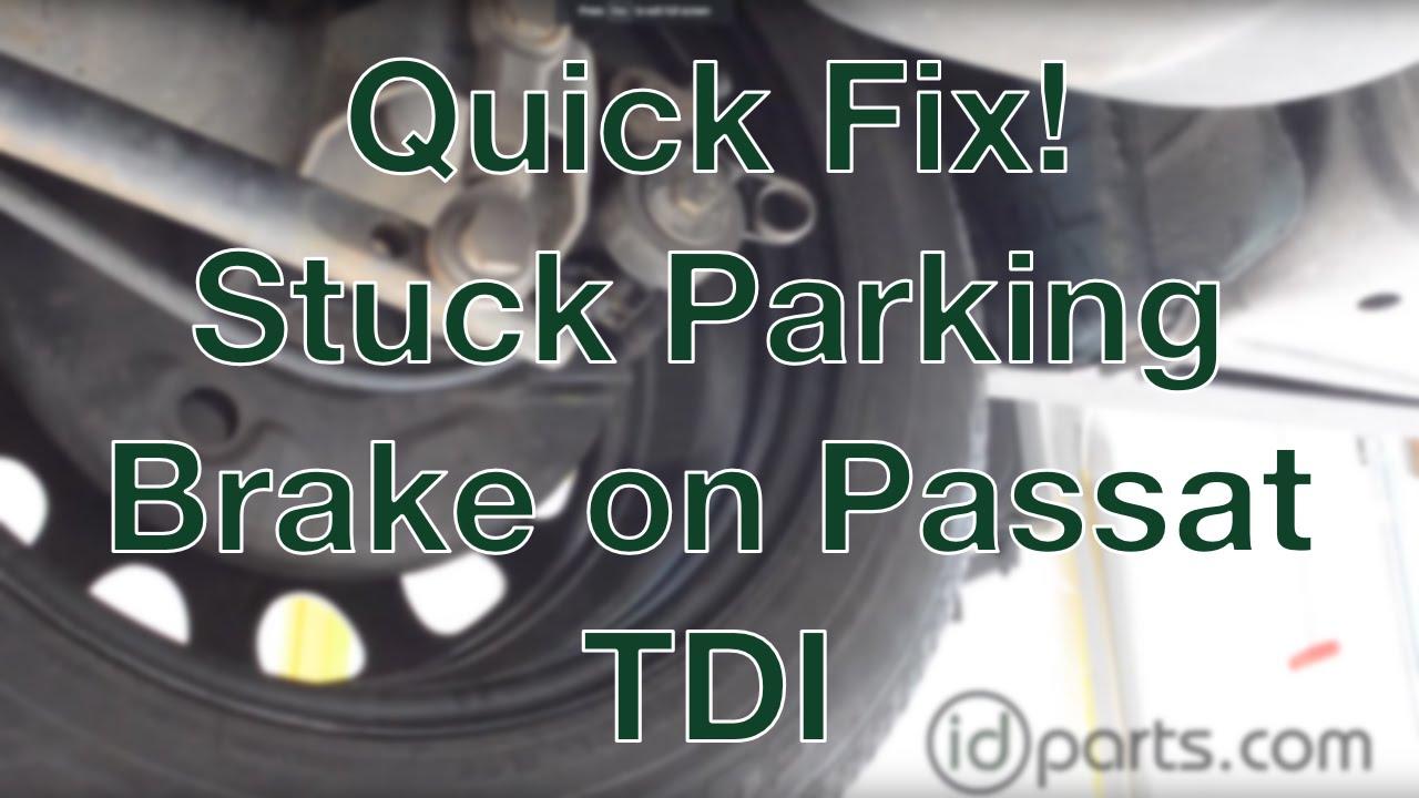 medium resolution of stuck parking brake cable on b4 passat tdi youtube