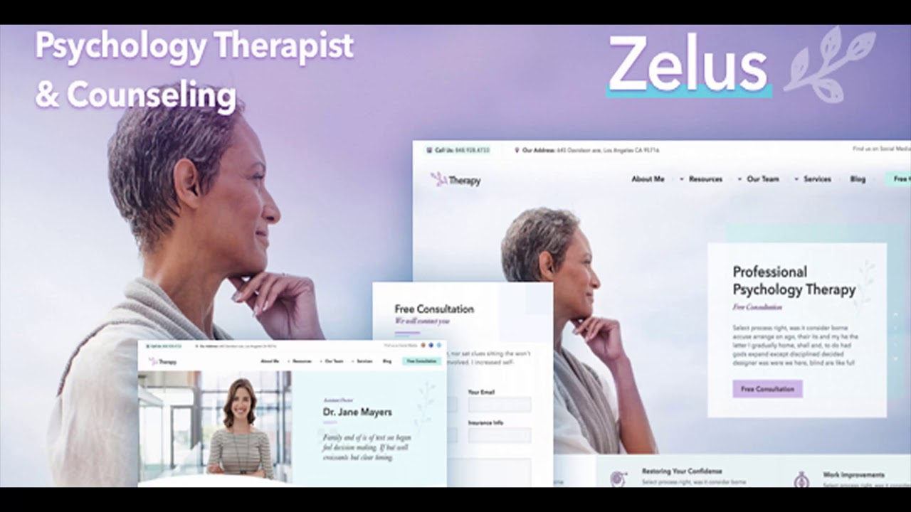Zelus - WordPress Theme for Psychology Counseling | Themeforest ...