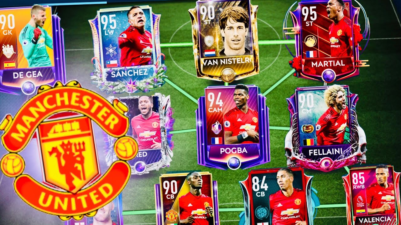 FIFA MOBILE 19 ! Best Manchester United Team With Icons
