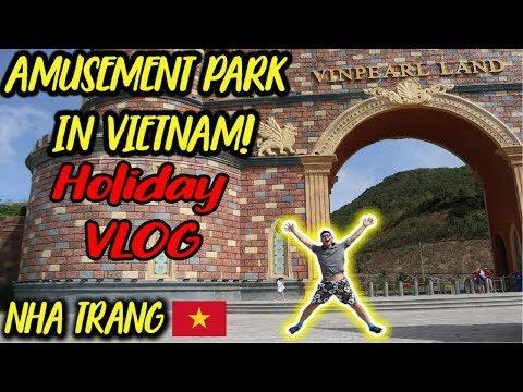 AMUSEMENT PARK IN NHA TRANG! (VINPEARL LAND) I VIETNAM TRAVEL VLOG
