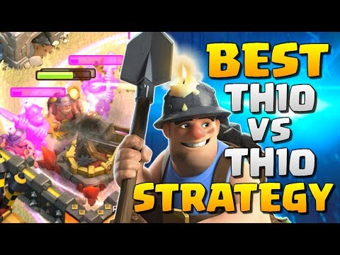 AMAZING! MINERS THE NEW BEST TH10 ATTACK STRATEGY - Clash of