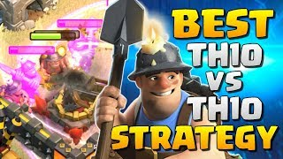 AMAZING! MINERS THE NEW BEST TH10 ATTACK STRATEGY - Clash of Clans Town Hall 10 War Attacks 2017