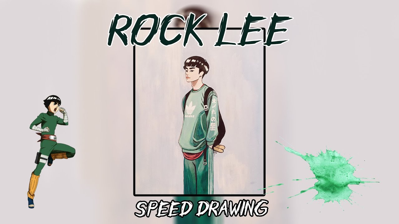 Speed Drawing: Rock Lee | Naruto (ვხატავ Rock Lee-ს)