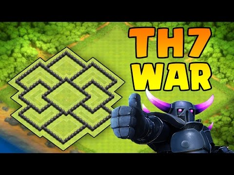 COC-TH7 BASE ANTI EVERYTHING NEW UPDATE|BEST TH7 TROPHY BASE [3 AIR DEFENSE]